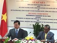 Việt Nam và Timor Leste ký Bản ghi nhớ về thương mại gạo