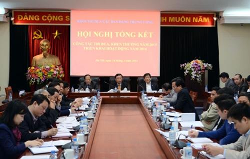 Khối thi đua các Ban Đảng Trung ương triển khai nhiệm vụ công tác năm 2016