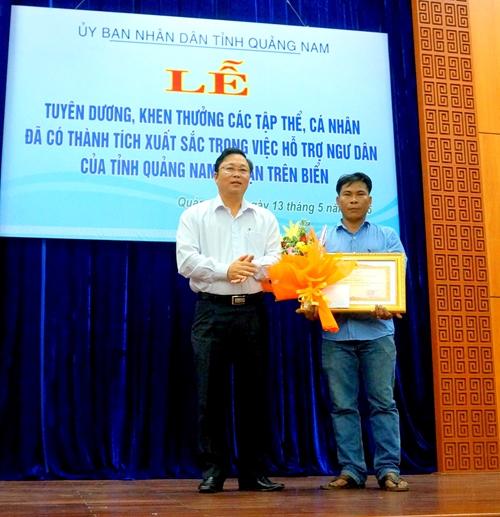 Quảng Nam Khen thưởng các tập thể và cá nhân cứu hộ ngư dân gặp nạn trên biển