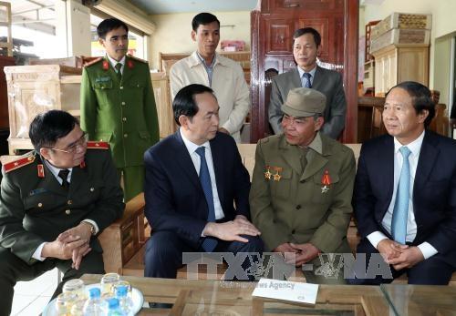 Chủ tịch nước Trần Đại Quang thăm chúc Tết tại Hải Phòng