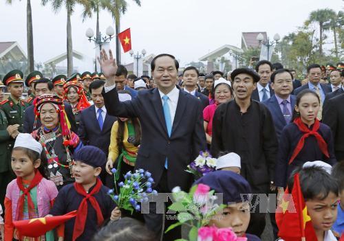 Chủ tịch nước Trần Đại Quang Tiếp tục bảo tồn, phát huy giá trị văn hóa truyền thống dân tộc