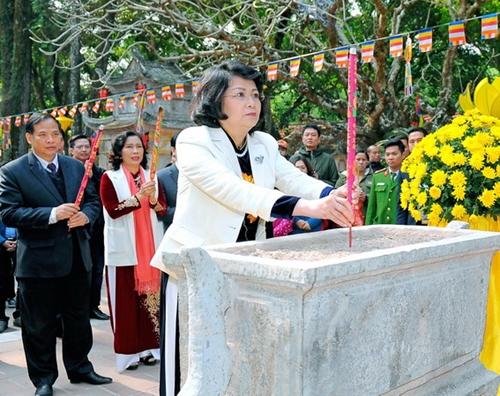 Phó Chủ tịch nước Đặng Thị Ngọc Thịnh làm việc tại Hải Dương