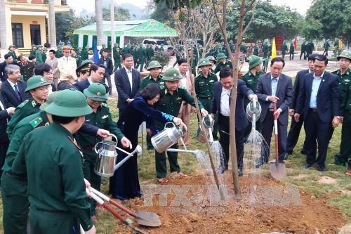 Phó Chủ tịch nước Đặng Thị Ngọc Thịnh tham gia Tết trồng cây tại Hòa Bình