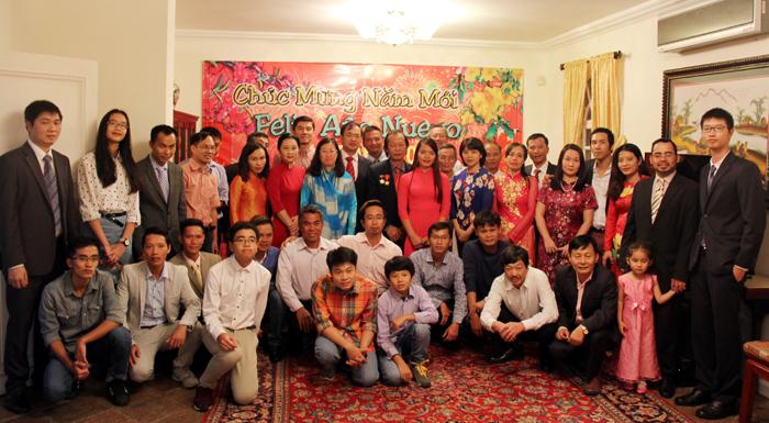 Đại sứ quán Việt Nam tại Vê-nê-xu-ê-la tổ chức Tết cổ truyền dân tộc