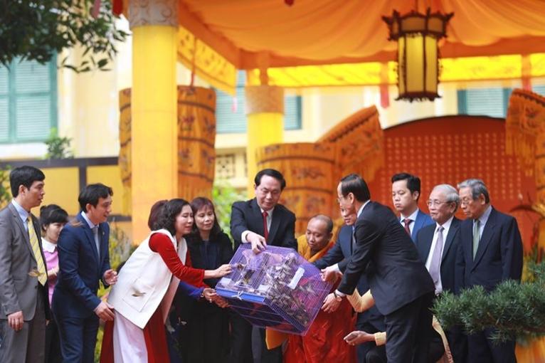Chủ tịch nước dự Lễ dâng hương khai Xuân tại Hoàng thành Thăng Long - Hà Nội