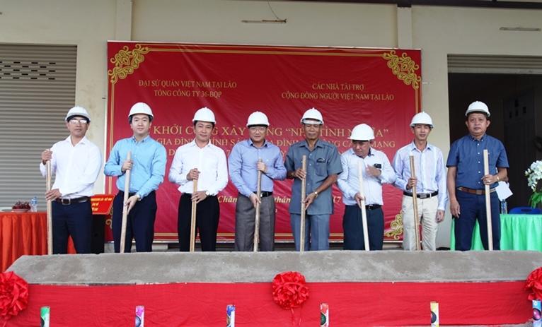 Khởi công Dự án xây dựng nhà tình nghĩa tại Lào