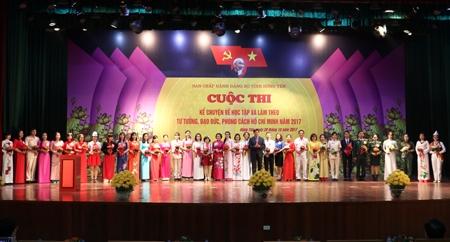 Hưng Yên Sơ khảo cuộc thi Kể chuyện về học tập và làm theo tư tưởng, đạo đức, phong cách Hồ Chí Minh năm 2017