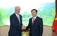 Phó Thủ tướng Vương Đình Huệ tiếp Chủ tịch Deloitte toàn cầu