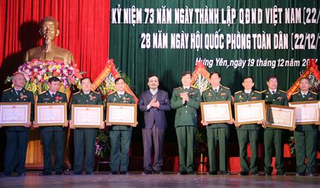 Hưng Yên Gặp mặt cán bộ quân đội nghỉ hưu, nghỉ công tác trên địa bàn tỉnh