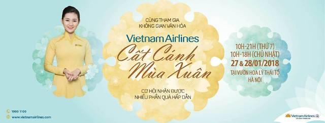 Vietnam Airlines và Jetstar Pacific tổ chức Không gian Văn hóa cổ truyền Xuân Mậu Tuất 2018