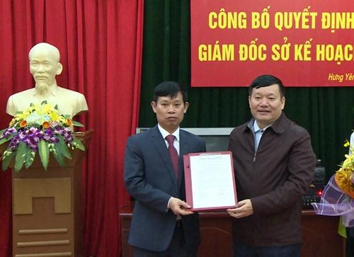 Sở Kế hoạch và Đầu tư tỉnh Hưng Yên có giám đốc mới