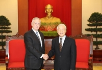 Tổng Bí thư Nguyễn Phú Trọng tiếp Đoàn đại biểu Bộ Quốc phòng Hoa Kỳ