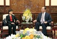 Chủ tịch nước Trần Đại Quang Quan hệ Việt Nam - Singapore đang bước sang một giai đoạn phát triển mới
