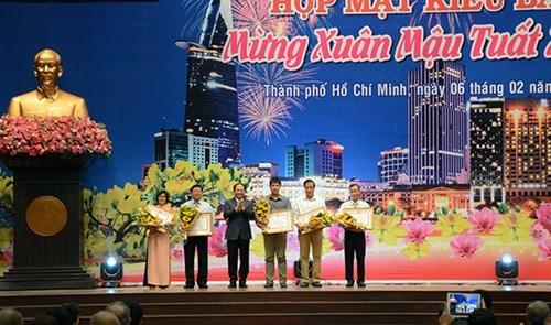 TP Hồ Chí Minh họp mặt kiều bào mừng Xuân Mậu Tuất 2018