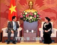 Chủ tịch Quốc hội Nguyễn Thị Kim Ngân tiếp Đại sứ Trung Quốc Hồng Tiểu Dũng chào từ biệt