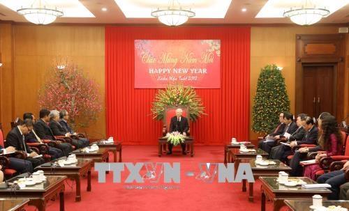 Tổng Bí thư chúc mừng các vị Đại sứ, Đại biện các nước ASEAN nhân dịp Tết cổ truyền của Việt Nam