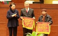 Chủ tịch Quốc hội Nguyễn Thị Kim Ngân gặp mặt, chúc Tết cán bộ hưu trí của Quốc hội