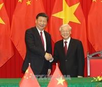 Lãnh đạo Việt Nam - Trung Quốc trao đổi Thư chúc mừng Năm mới