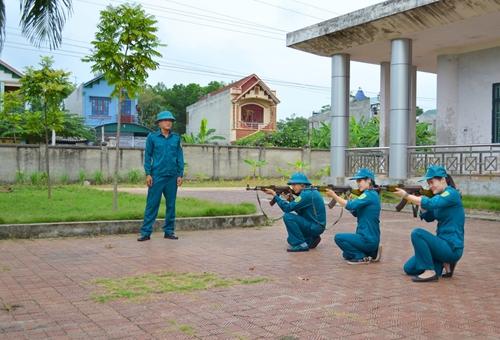 Hưng Yên Chú trọng nâng cao chất lượng dân quân tự vệ