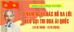 """Giao lưu trực tuyến 70 năm Ngày Chủ tịch Hồ Chí Minh ra """"Lời kêu gọi thi đua ái quốc"""""""