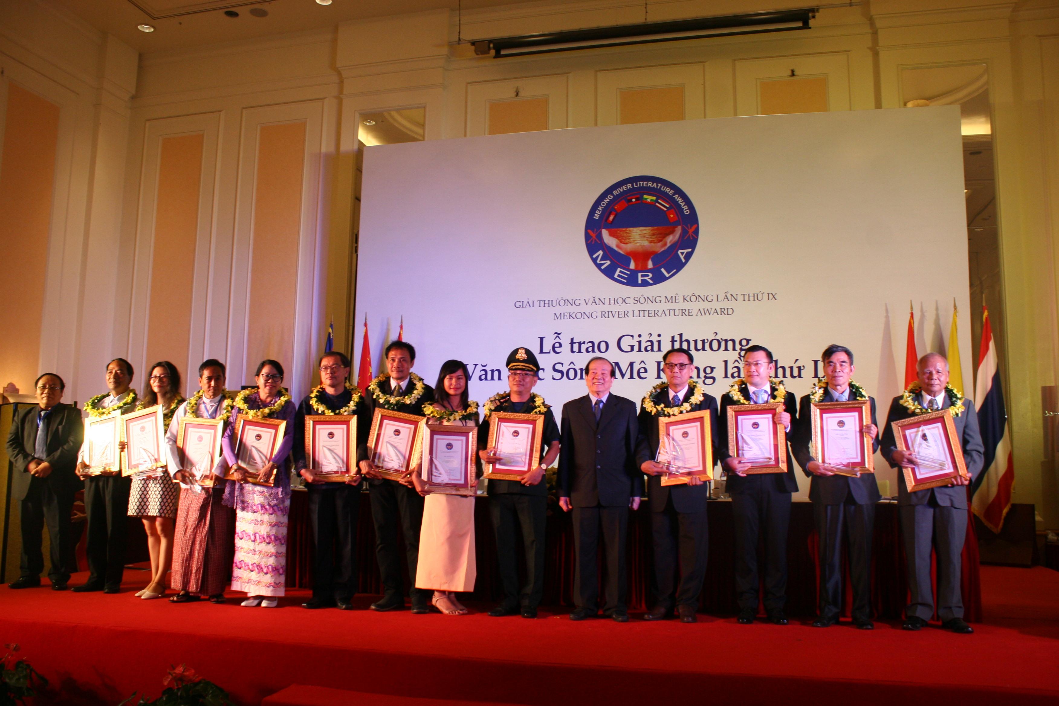 12 tác phẩm nhận Giải thưởng Văn học sông Mekong lần thứ 9