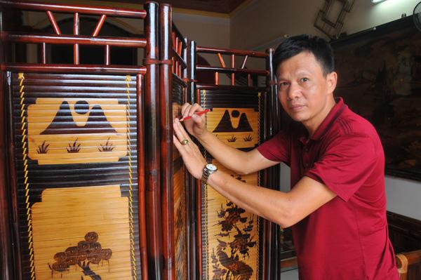 Thổi hồn Việt vào tranh tre Xuân Lai