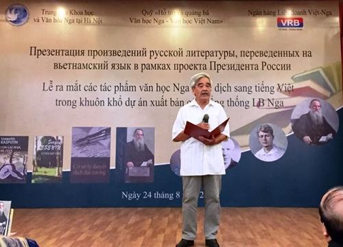 Ra mắt các tác phẩm văn học kinh điển Nga dịch sang tiếng Việt