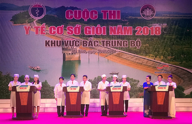 """Đội thi y tế cơ sở tỉnh Nghệ An đoạt giải Nhất Cuộc thi """"Y tế cơ sở giỏi năm 2018"""" khu vực Bắc Trung Bộ"""