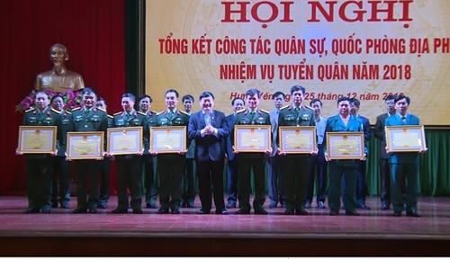 Hưng Yên tổng kết công tác quân sự quốc phòng địa phương năm 2018