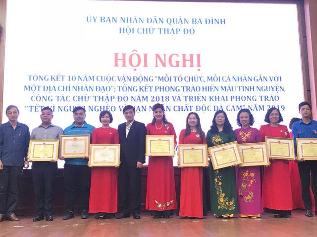 Quận Ba Đình Hà Nội  Phong trào Chữ Thập đỏ đạt nhiều kết quả đáng khích lệ