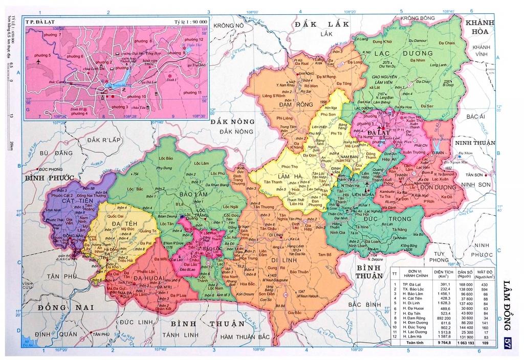 Quy hoạch xây dựng vùng tỉnh Lâm Đồng