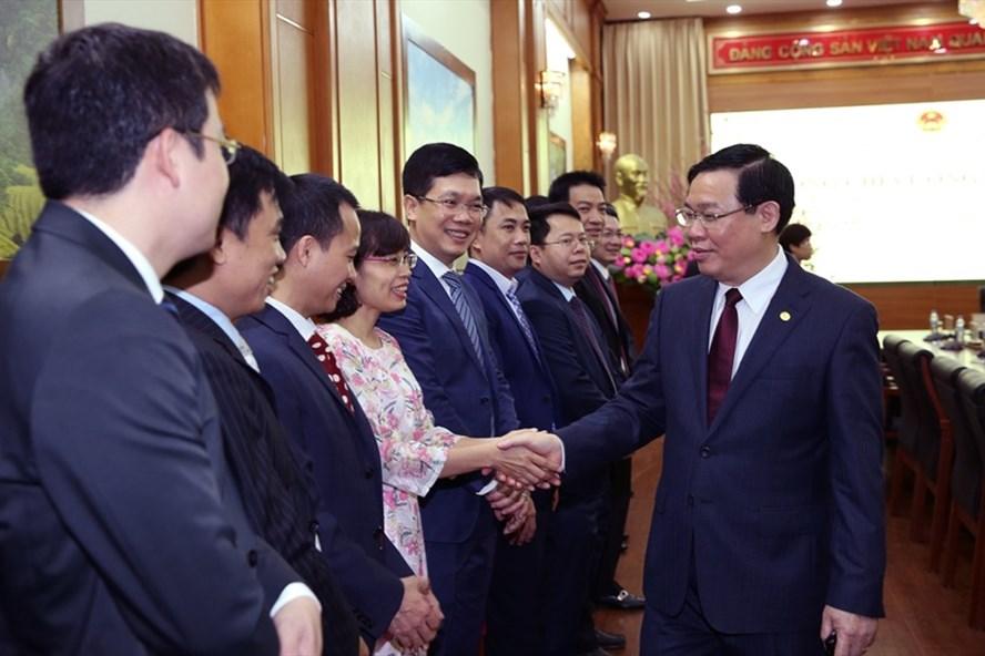 Phó Thủ tướng Vương Đình Huệ thăm, làm việc với Uỷ ban Quản lý vốn Nhà nước tại doanh nghiệp