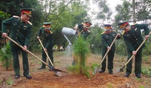 LLVT Quân khu 3 trồng hơn 10 vạn cây xanh dịp đầu Xuân Kỷ Hợi 2019