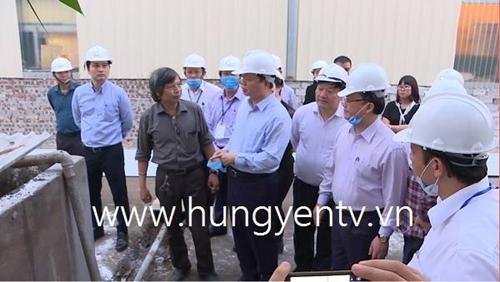 Bộ trưởng Bộ TN MT Trần Hồng Hà thị sát dây chuyền xử lý rác thải để phát điện tại Hưng Yên