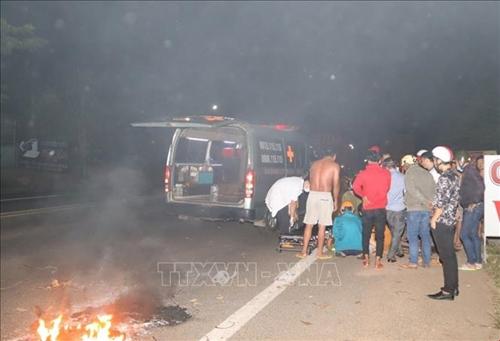Bình Phước Tai nạn liên hoàn trên quốc lộ 14 làm 4 người bị thương nặng