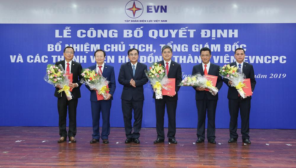 Công bố các quyết định bổ nhiệm lãnh đạo Tổng công ty Điện lực miền Trung