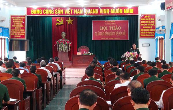 Bộ Quốc phòng Lấy ý kiến vào dự thảo Luật Dân quân tự vệ sửa đổi