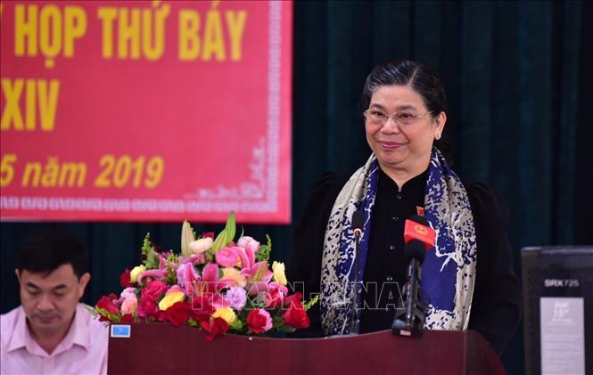 Phó Chủ tịch Thường trực Quốc hội Tòng Thị Phóng tiếp xúc cử tri tại tỉnh Sơn La