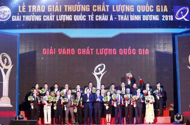 Công ty Cổ phần Nhựa An Phát Xanh nhận Giải Vàng chất lượng Quốc gia 2018