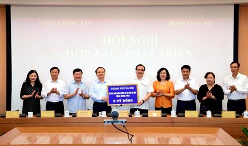 Hà Nội và Hưng Yên sẽ đẩy mạnh hợp tác trên nhiều lĩnh vực