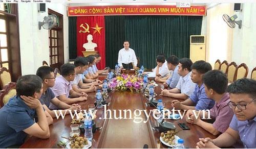 Bộ trưởng Bộ Khoa học và Công nghệ làm việc tại Hưng Yên