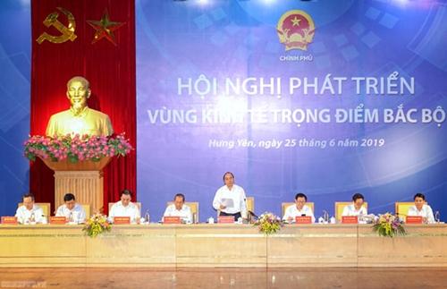 """Thủ tướng chủ trì Hội nghị phát triển vùng KTTĐ Bắc Bộ Thay đổi tư duy """"số cộng phát triển"""""""