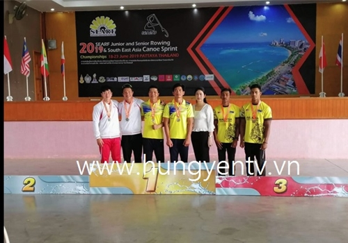 Hưng Yên giành 6 huy chương đua thuyền Đông Nam Á 2019
