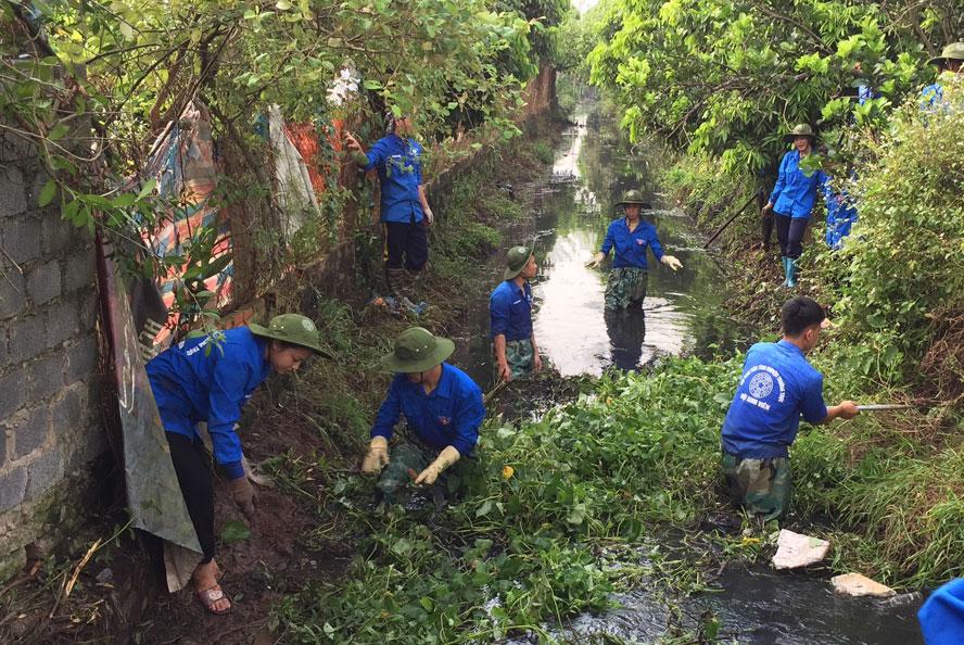 Gần 300 tình nguyện viên Thủ đô tham gia xây dựng nông thôn mới