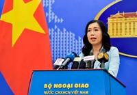 Yêu cầu phía Trung Quốc rút toàn bộ tàu vi phạm ra khỏi vùng biển Việt Nam