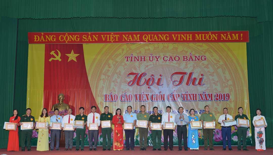 Sáng tạo trong tổ chức Hội thi Báo cáo viên giỏi tỉnh Cao Bằng