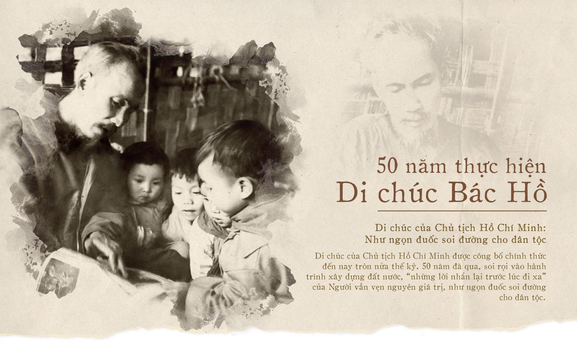 50 năm thực hiện lời dặn đầu tiên trong Di chúc thiêng liêng của Bác