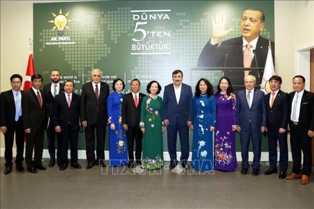 Trưởng Ban Dân vận Trung ương Trương Thị Mai thăm và làm việc tại Thổ Nhĩ Kỳ 🎥