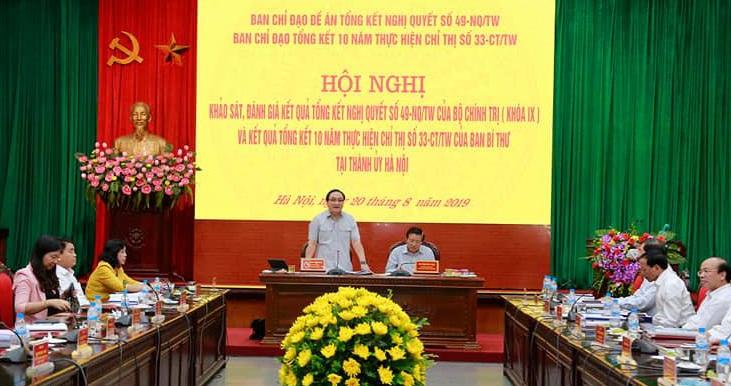Khảo sát, đánh giá kết quả tổng kết về Chiến lược cải cách tư pháp tại Hà Nội