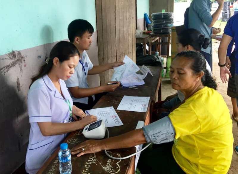 Nhiều hoạt động tình nguyện của tuổi trẻ Thủ đô tại Viêng Chăn